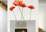 Poppies Wall Decal Sticker