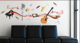 Music Instruments Wall Decal Sticker