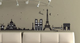 Paris  France Wall Decal Sticker