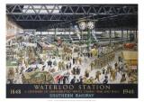 Waterloo Station  War  SR  c1948