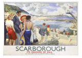 Scarborough  It's Quicker by Rail