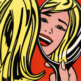 Girl in Mirror, c.1963 Reproduction d'art par Roy Lichtenstein