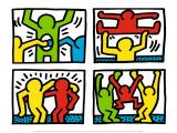 Pop Shop Quad I, c.1987 Reproduction d'art par Keith Haring