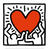Sans titre, vers 1988 Reproduction d'art par Keith Haring