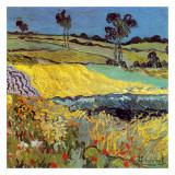 La Plaine D'Auvers Reproduction d'art par Vincent Van Gogh