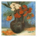 Vase Avec Œillets Et Fleurs