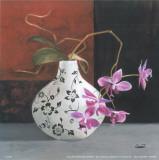 Jarrones Con Flores Malva I
