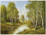 Birches In Springtime