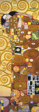 Fulfilment - Golden Metallic Ink Reproduction d'art par Gustav Klimt