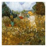 Marguerite Gachet Dans Son Jardin Reproduction d'art par Vincent Van Gogh