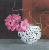 Jarrones Con Flores Malva II