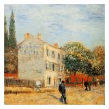 Le Restaurant Rispal A Asniere Reproduction d'art par Vincent Van Gogh