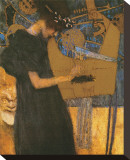 La musique Tableau sur toile par Gustav Klimt