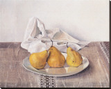 Three Pears On a Plate