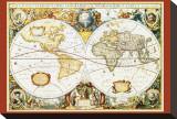 Mappemonde III Tableau sur toile