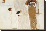 Desire of Happiness, Beethoven Frieze (detail), 1902 Tableau sur toile par Gustav Klimt