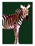 Zebra in Green Vertical
