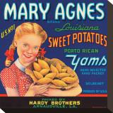 Mary Agnes Brand Louisiana Sweet Potatoes  Porto Rican Yams