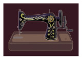 Sewing Machine in Purple