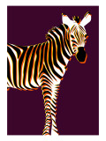 Zebra in Purple Vertical