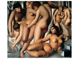 Femmes au Bain Giclée premium par Tamara De Lempicka