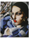 Echarpe Bleue Giclée premium par Tamara De Lempicka