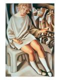 Kizette au Balcon Giclée premium par Tamara De Lempicka