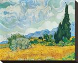 Champ de blé avec cyprès, vers 1889 Tableau sur toile par Vincent Van Gogh