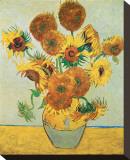 Vase of Fifteen Sunflowers, c.1888 Tableau sur toile par Vincent Van Gogh