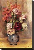Vase of Gladiolas and Roses