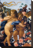 Cherubs with Garland of Flowers  Detail