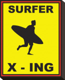 Surfer Crossing