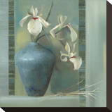 Orchids in a Blue Vase