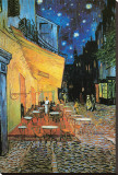 The Caf&#233; Terrace on the Place du Forum  Arles  at Night  c1888 (detail)