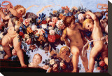 Cherubs with Garland of Flowers