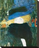 Lady with Hat and Feather Boa, c.1909 Tableau sur toile par Gustav Klimt