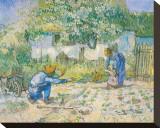 First Steps, c.1890 Tableau sur toile par Vincent Van Gogh