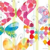 Butterfly Square I Reproduction d'art par Maria Carluccio