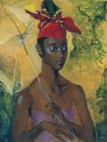 Femme au parasol Reproduction d'art par Boscoe Holder