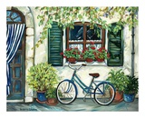Country Cottage with Blue Bicycle