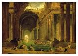Vue Imaginaire de la Grande Galerie en Ruins