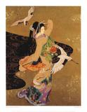 Dance of the Cranes Reproduction d'art par Haruyo Morita
