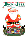 Santa and the Train - Jack and Jill  December 1957