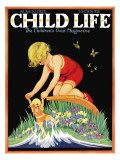 Girl and Doll - Child Life  August 1928