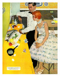 "Backstairs Bachelor  - Saturday Evening Post ""Leading Ladies""  July 17  1954 pg27"