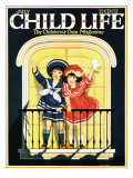 Waiving at the Parade - Child Life  July 1925