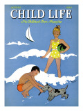 A Day at the Beach - Child Life  August 1939