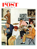 """Jammin with Dad"" Saturday Evening Post Cover  December 1  1956"