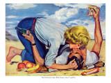 "Girl Shy  - Saturday Evening Post ""Leading Ladies"", August 13, 1955 pg.24 Giclée par Bob Hillbert"