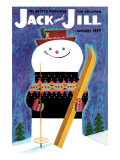 Smiley Snowman - Jack and Jill  January 1957